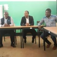 12 -Com o diretor-geral da Administração guineense do Sistema de Saúde      Van Hanegem Menezes Moreira na receção em Catió