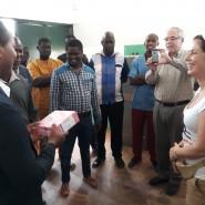 13 - Com o diretor-geral da Administração guineense do Sistema de Saúde      Van Hanegem Menezes Moreira na receção em Catió
