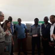 14 - Ato de receção com o diretor-geral da Administração guineense do Sistema de Saúde      Van Hanegem Menezes Moreira na receção em Catió