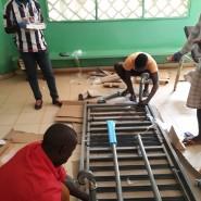 Equipamentos e materiais em montagem